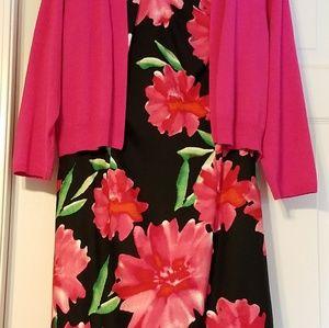 Sleeveless, size 16, dress with matching shrug.